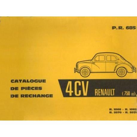Renault 4cv R1060 R1062 R2070 R2071 Catalogue De Pieces