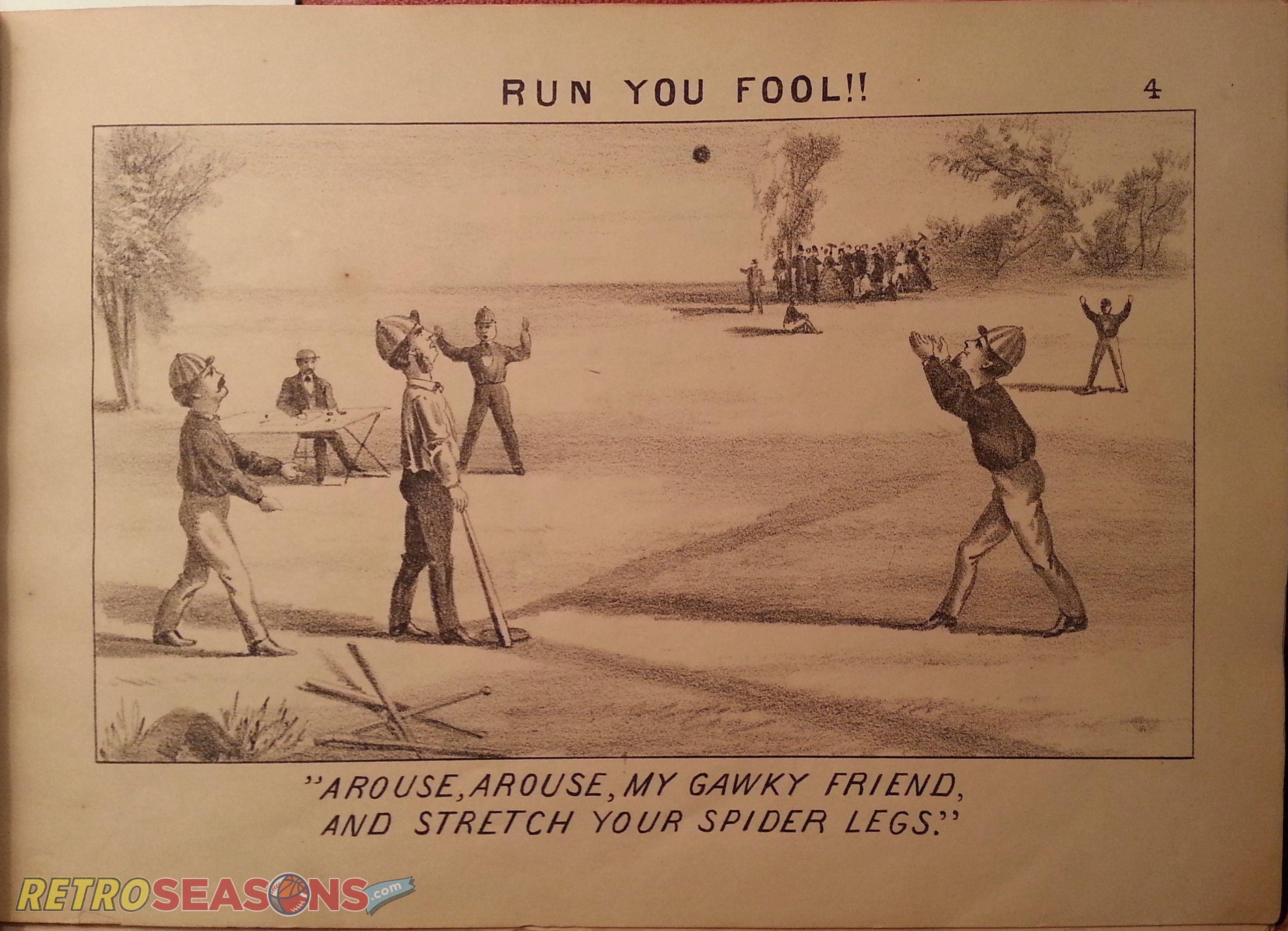 """Base Ball as Viewed by a Muffin"""": Early baseball illustrations from 1867"""