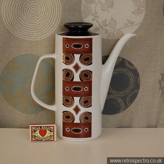 J&G Meakin Maori Coffee Pot