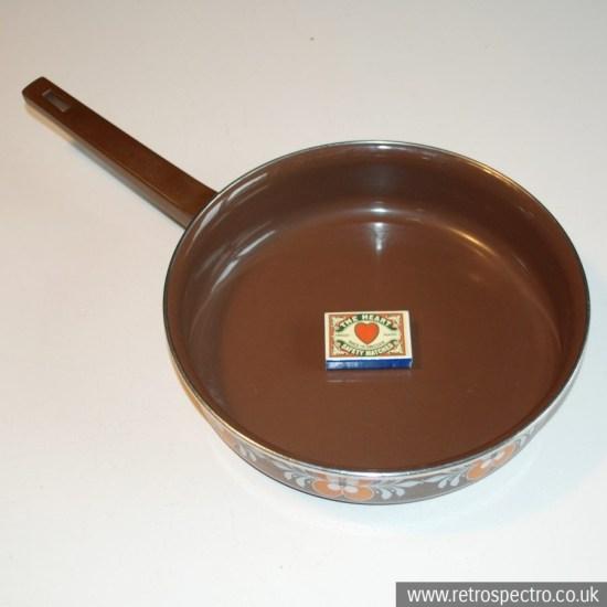 Shallow enamel pan