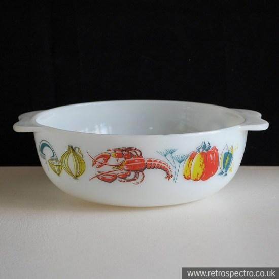 JAJ Pyrex Lobster easy-grip casserole