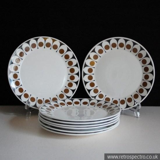 Black Velvet Pattern Side Plates