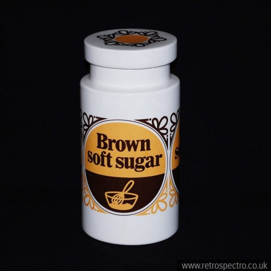 Lord Nelson Pottery Brown Soft Sugar Canister