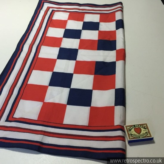 Vintage Red White & Blue Ladies Scarf