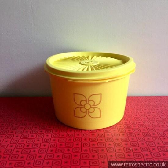 Yellow Tupperware Pot