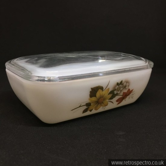 JAJ Pyrex Autumn Glory Butter Dish