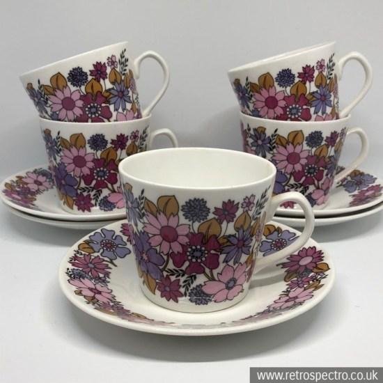 Elizabethan Portobello 2 cup and saucer