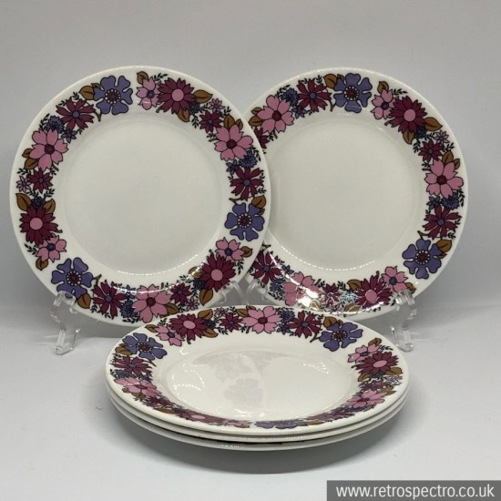 Elizabethan Potteries Portobello 2 side plates