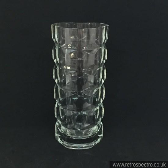 Vintage prism effect glass vase