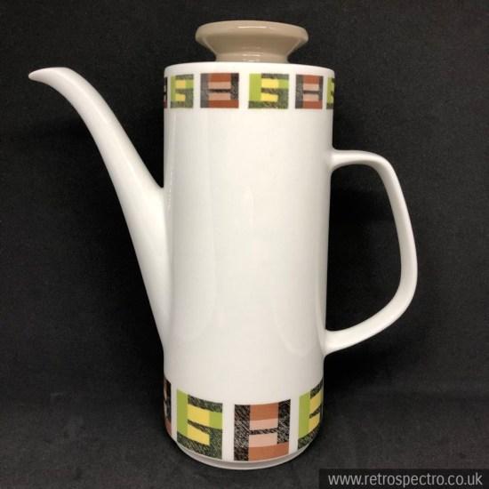 J&G Meakin Crosspatch Coffee Pot
