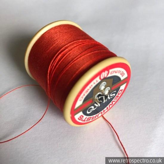 Vintage Sylko Cotton Reel - Gladiole Red D306