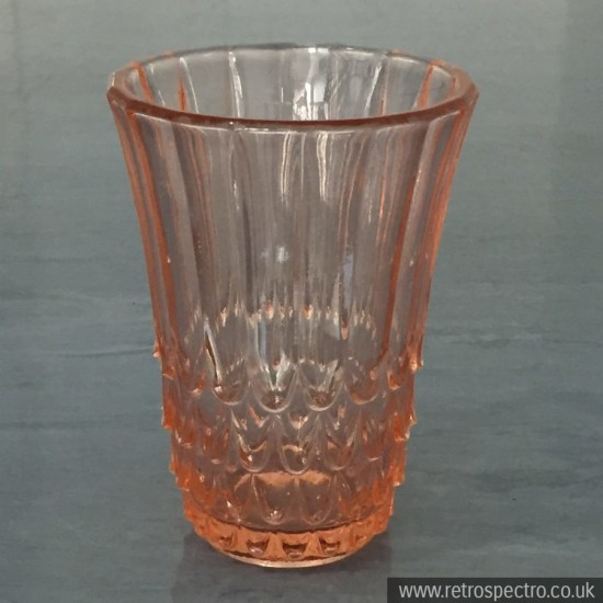 Peach Pressed Glass Vase