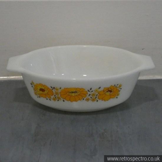 JAJ Pyrex Sunflower Casserole Dish