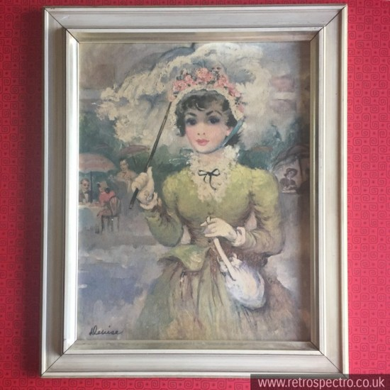 Vintage Lady With Parasol Picture