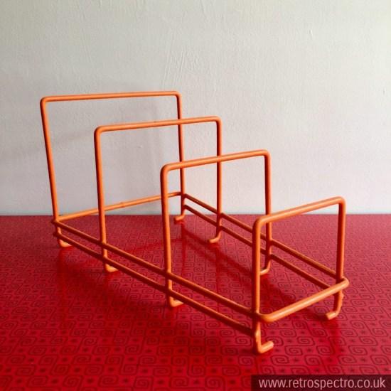 Vintage orange plate rack