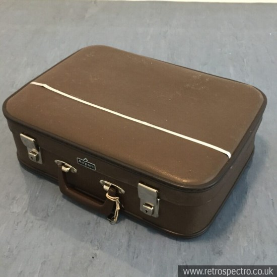 Brown Vintage Airport Suitcase