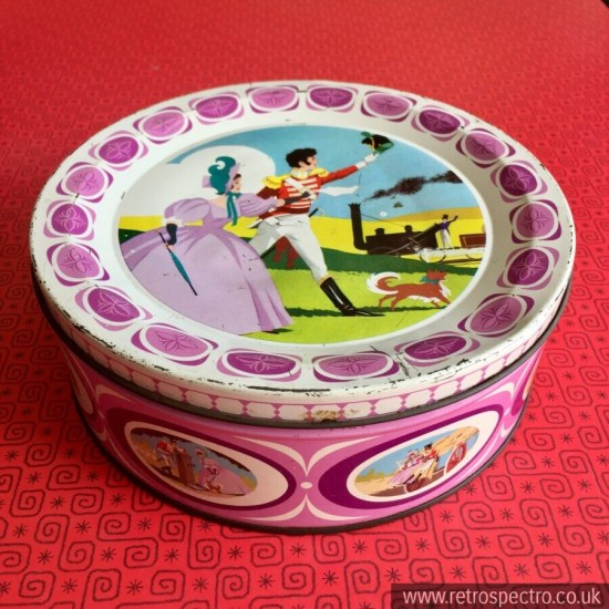 Quality Street tin with steam train picture