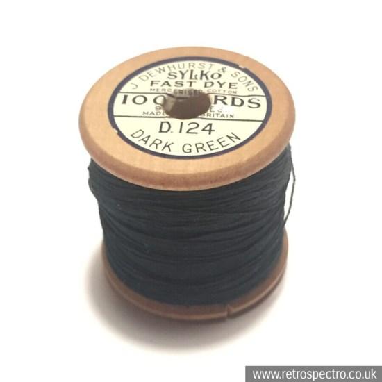 Sylko Cotton Reel D.124 Dark Green