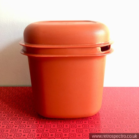 Orange Tupperware Ice Bucket