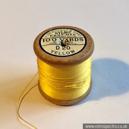Sylko cotton reel D.20 Yellow