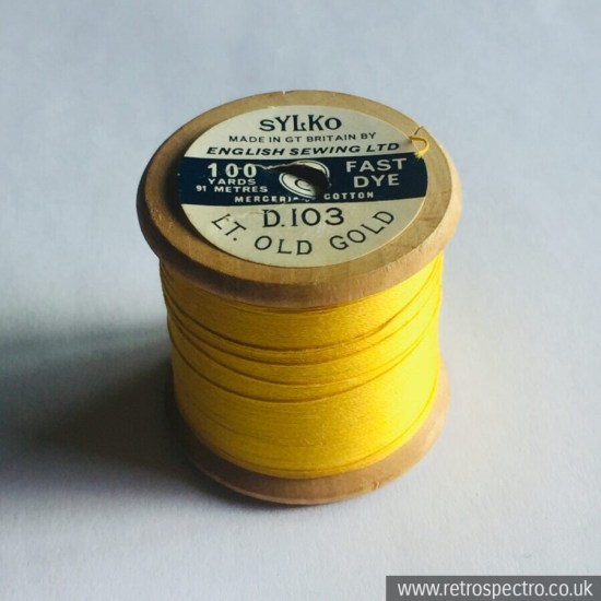 Sylko Cotton Reel D.103 Light Old Gold