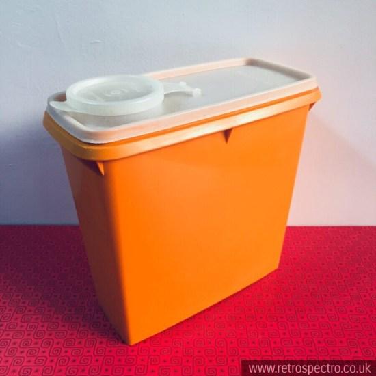 Vintage Orange Tupperware Cereal Keeper 469-11