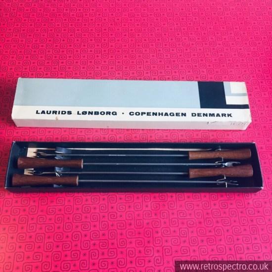 Boxed Vintage Laurids Lonborg 4 Fondue Forks