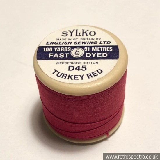 Sylko Cotton Reel D45 Turkey red