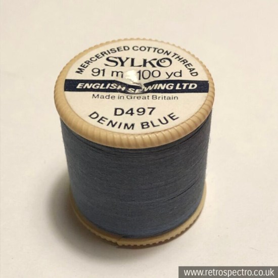 Sylko Cotton Reel D497 Denim Blue