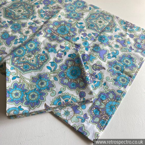 Pair Of Vintage Flower Power Pillow Cases
