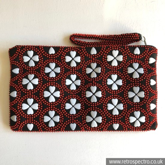 Beaded Clutch/Make Up Bag Made In Hong Kong