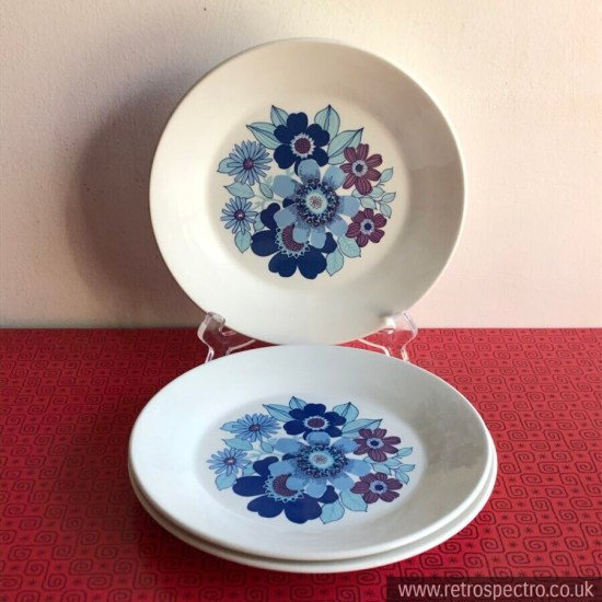 J&G Meakin Side Plates Pacific Pattern 1970's