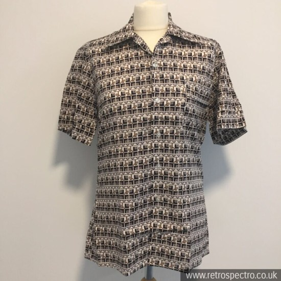Square Seal Shirt 70s 80s