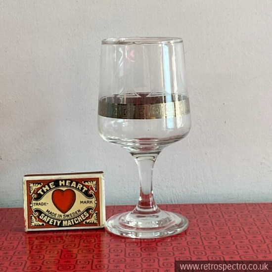 Wines by Dema Vintage Patterned Glasses