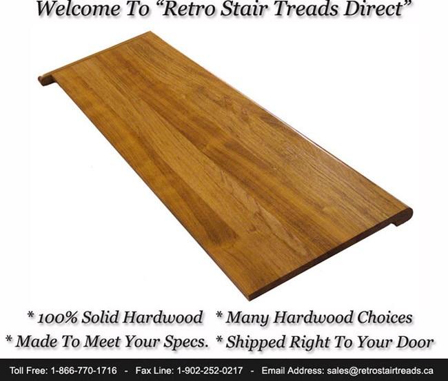 Buy Retro Fit Stair Treads And Risers   Oak Retro Stair Treads   Red Oak   White Oak   Engineered Wood   Nosing   Hardwood