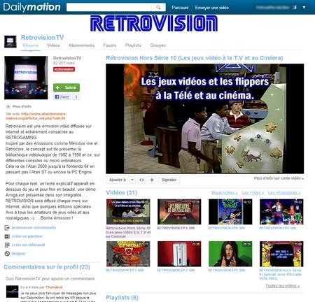 La chaîne Dailymotion de Retrovision