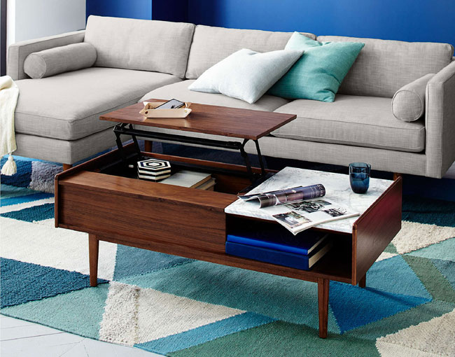 west elm midcentury pop up coffee table