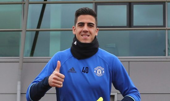 Photo: Joel Pereira poses for snap as he signs long-term contract with Man United