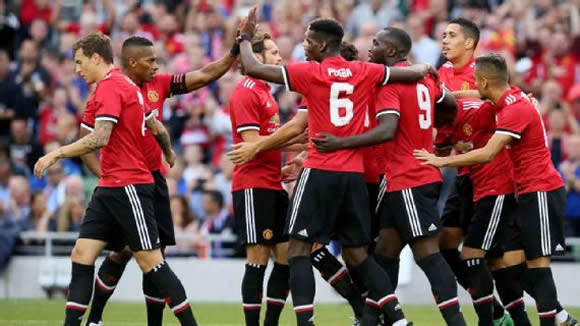 Manchester United 2 vs 1 Sampdoria