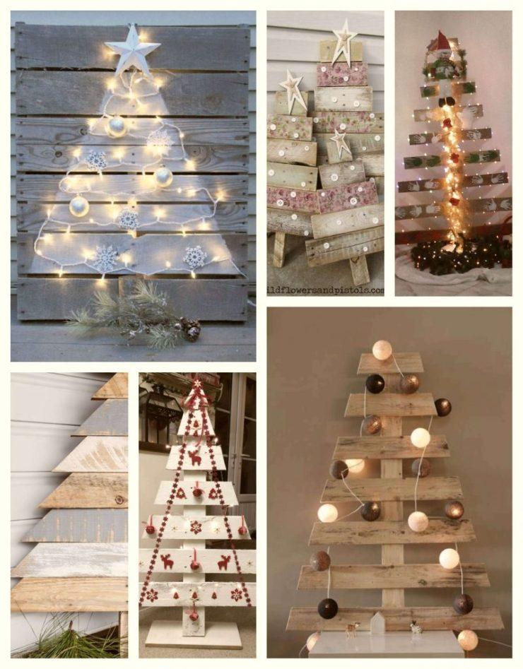Cómo hacer Árboles de Navidad con palets reciclados