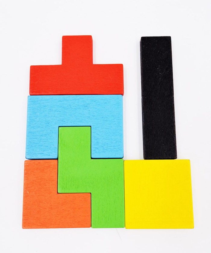 Wooden Tetris Puzzle for Kids|Blister card packing