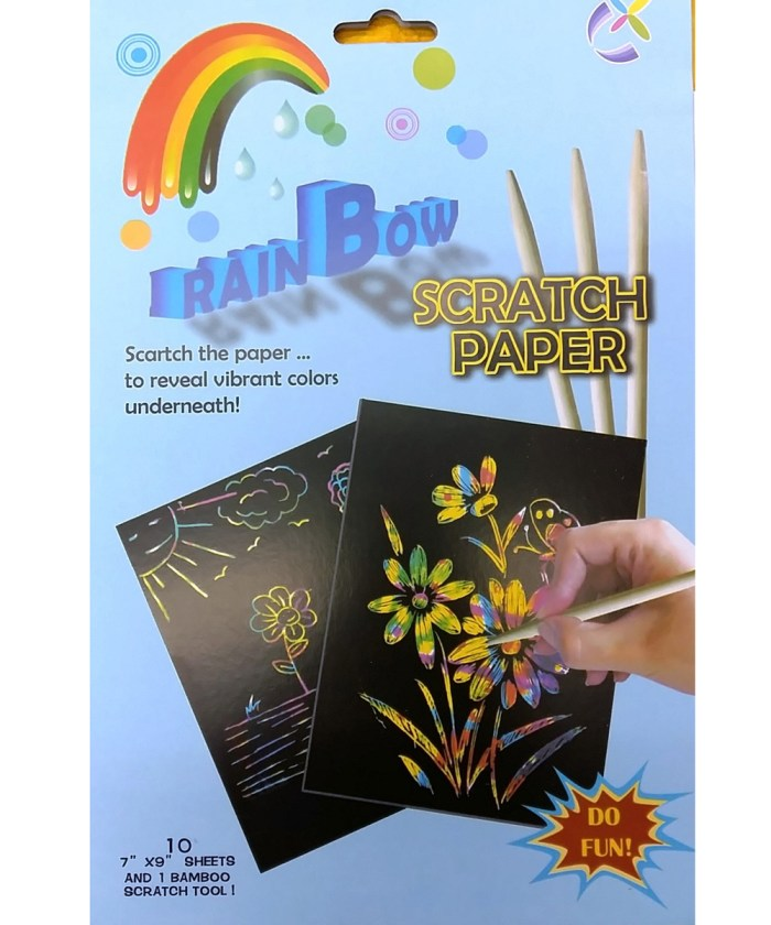 Scratching Magic Paper Sheets With Wooden Pencil