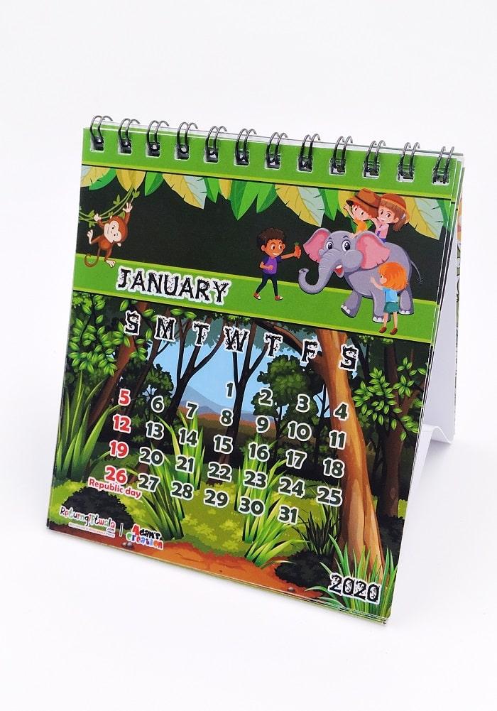 Animal theme ideas for return gifts calendars