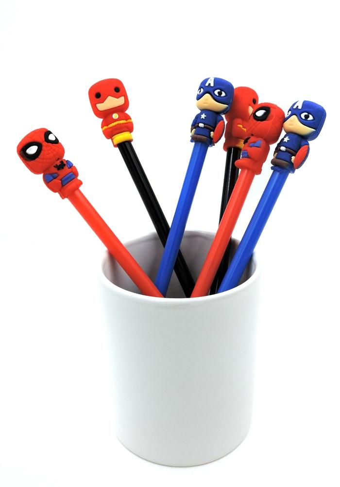 super heroes gel pens for kids