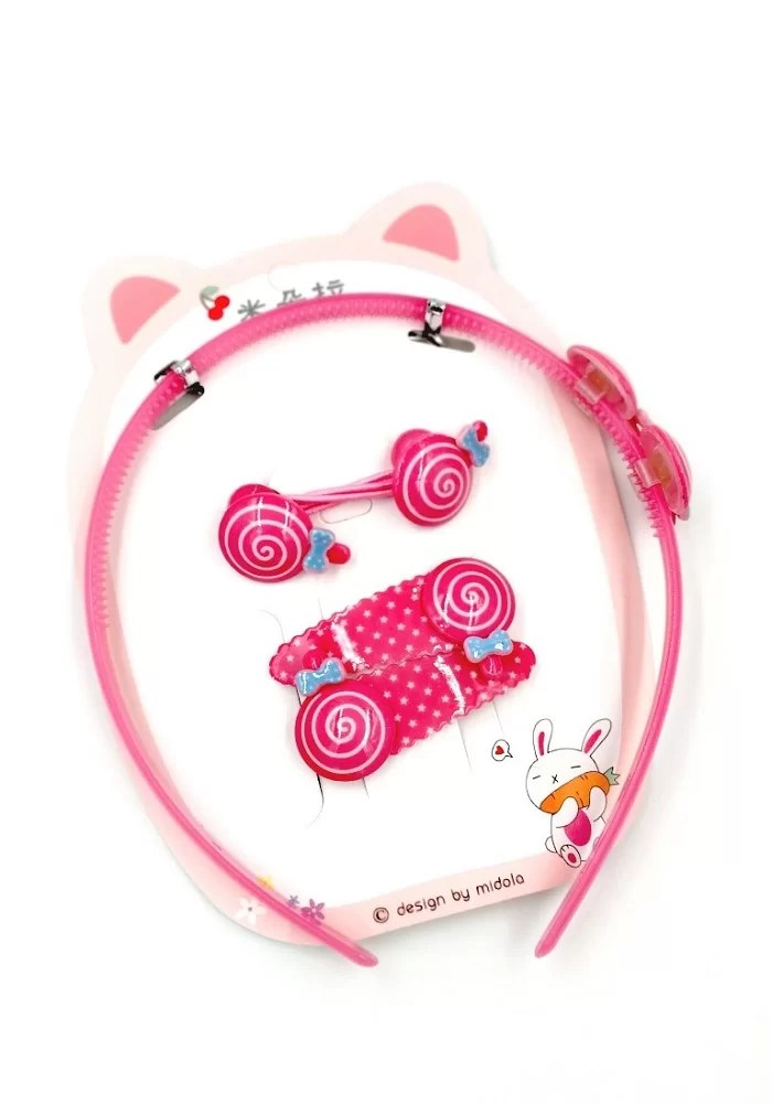 candy theme hair band set girls fashion accessories