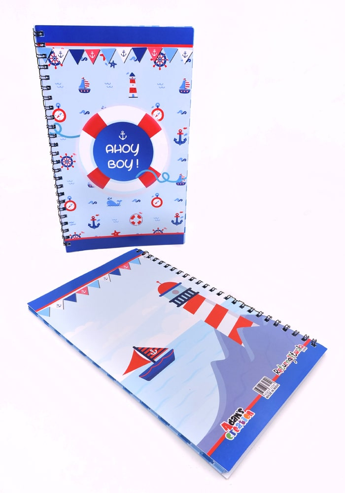 nautical theme diary for party favor