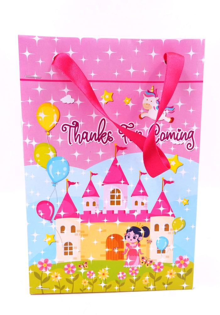 princess theme return gifts paper bag