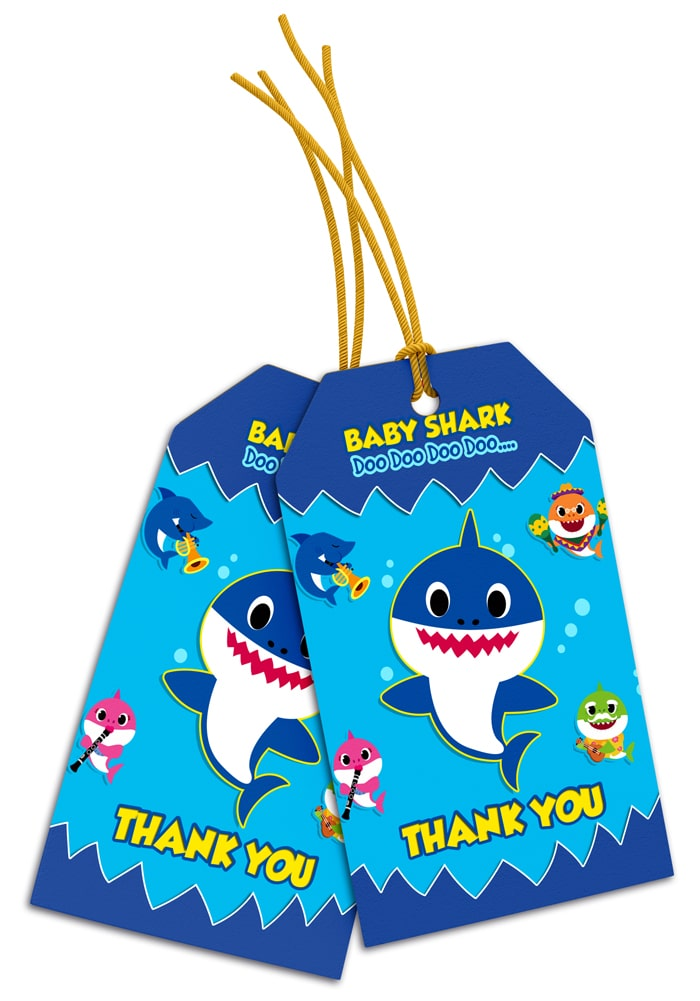 baby shark theme thank you cards return gifts