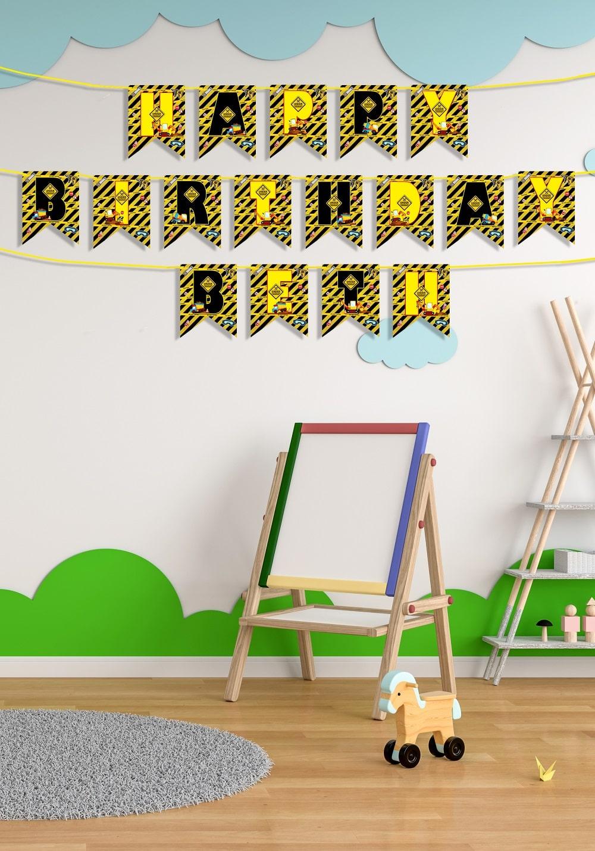 construction theme party decoration