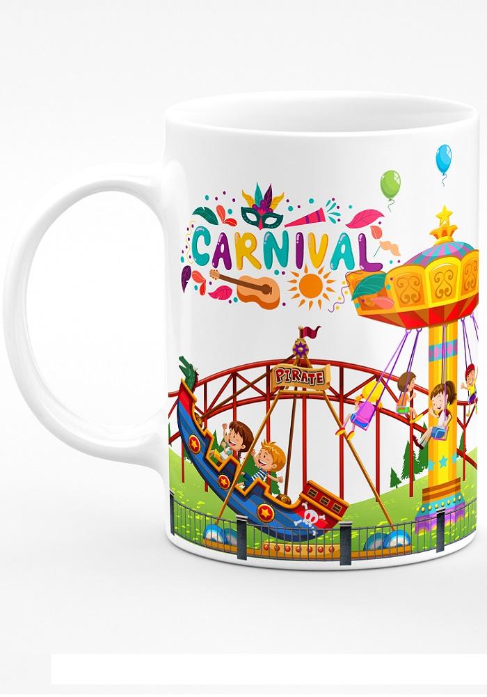 carnival theme coffee mug